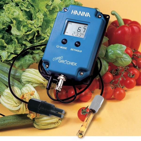Hanna Multiparameter-Messgerät HI991404, bis 3999 µS/cm optimal für den Einsatz in der Landwirtschaft