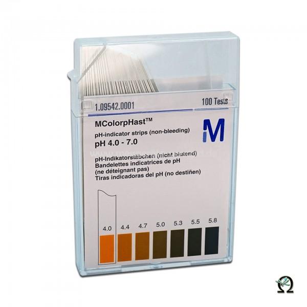 MColorpHast pH-Indikatorstäbchen pH 4,0-7,0 100 Stück