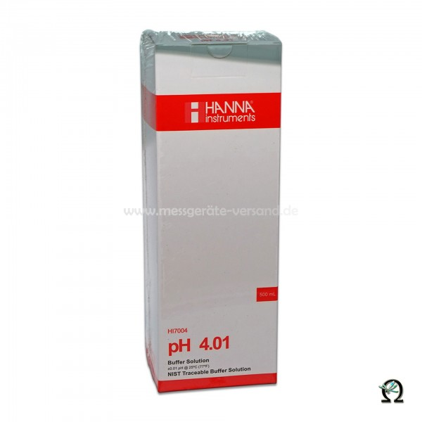 Hanna Pufferlösung HI7004 pH 4,01 mit Analysezertifikat 500ml