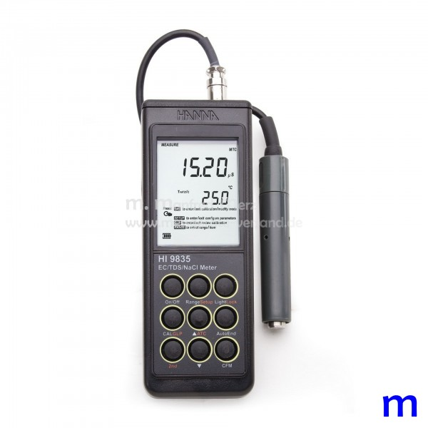 Hanna Leitfähigkeits-, TDS-, und NaCl-Messgerät HI-9835