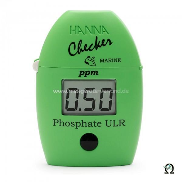 Mini-Photometer Checker HI774 f. Phosphat Ultraniedrig im Meerwasser (0,00-0,90 mg/l)