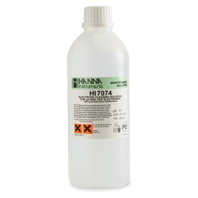 Elektrodenreinigungslösung HI7074 Anwendung Anorganische Substanzen 500ml