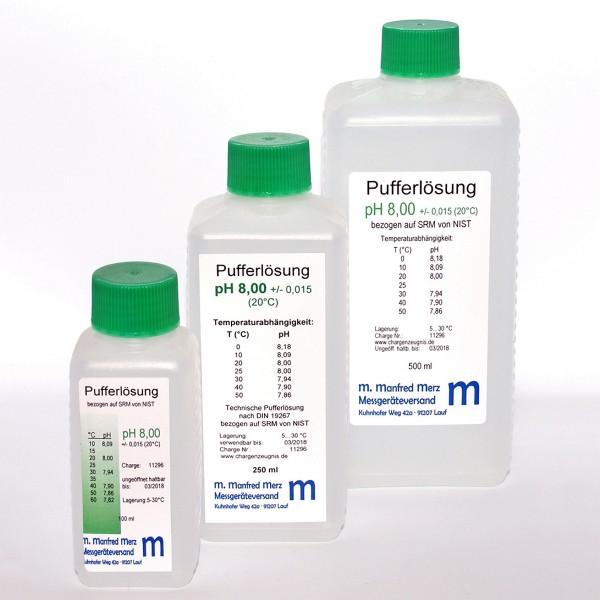Pufferlösung pH 8,00 mit Analysezertifikat