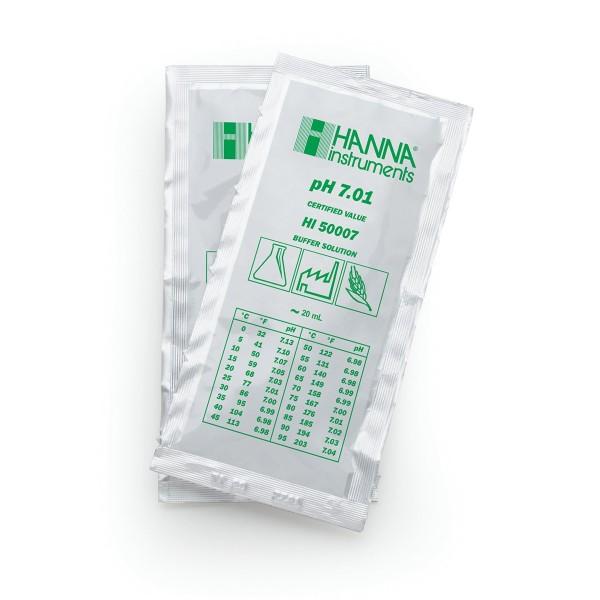 Hanna Pufferlösung HI50007 pH 7,01 Portionsbeutel