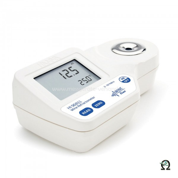 Hanna Digital-Refraktometer HI96811 0 bis 50% Brix bei Wein, Most oder Saft