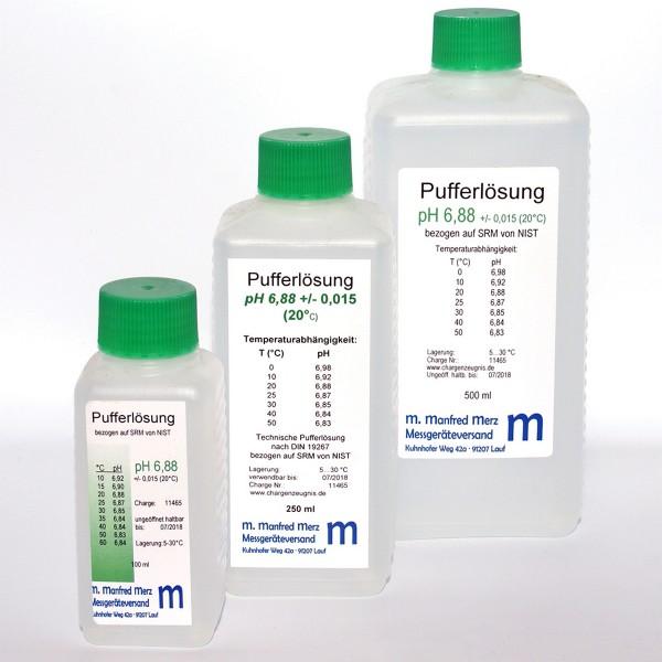 Pufferlösung pH 6,8  mit Analysezertifikat