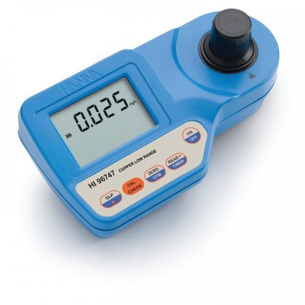 Kompakt-Photometer HI96747 für Kupfer Niedrig, 0,000 bis 1,500 mg/l