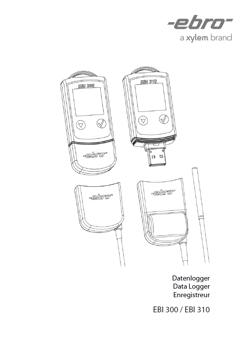 Bedienungsanleitung Ebro Mehrweg-PDF-Temperaturdatenlogger EBI 310 TE