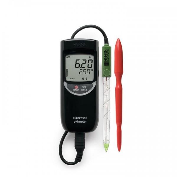 pH-Messgerät HI99121 für Direktmessung in Erde