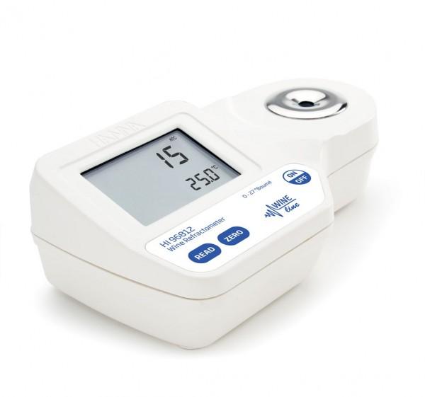 Hanna Digital-Refraktometer HI96812 0 bis 27º Baumé bei Wein, Most oder Saft