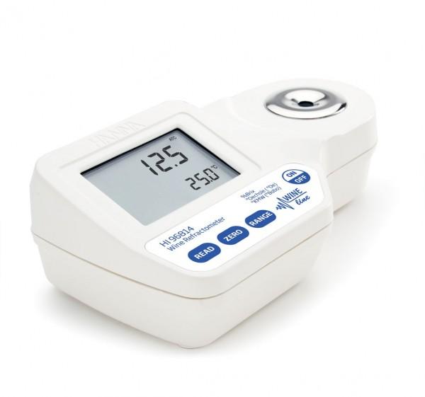 Hanna Digital-Refraktometer HI96814 0 bis 230º Oechsle und 0 bis 50% Brix bei Wein, Most oder Saft