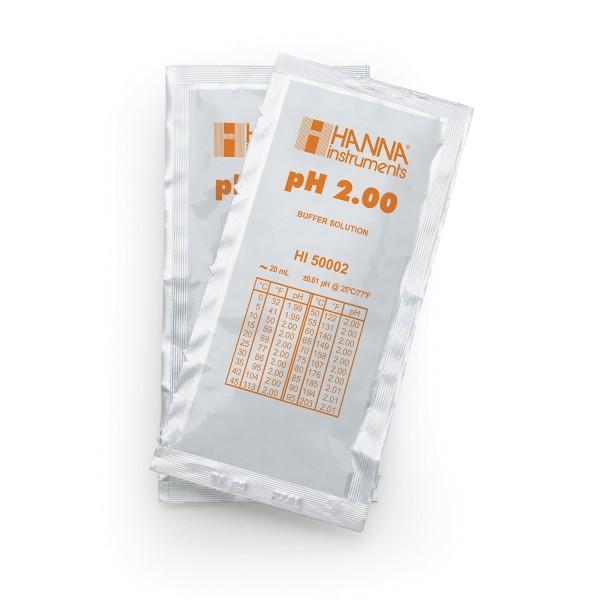 Hanna Pufferlösung HI50002 pH 2,00 Portionsbeutel