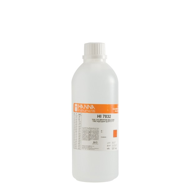 TDS-Kalibrierlösung, 1382 ppm (mg/l) 500ml