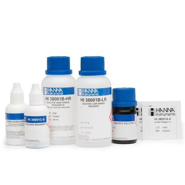 Hanna Reagenzien HI38001-10 für Testkit Sulfat 100-1000 mg/l bzw. 1000-10000mg/l